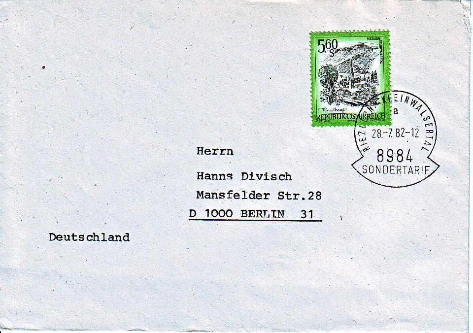 Brief Nach Wien Versenden : Philaseiten sondertarife im grenzbereich deutschland