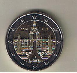 Philaseitende Deutschland 2 Euro Sondermünze Sachsen Vom 05022016
