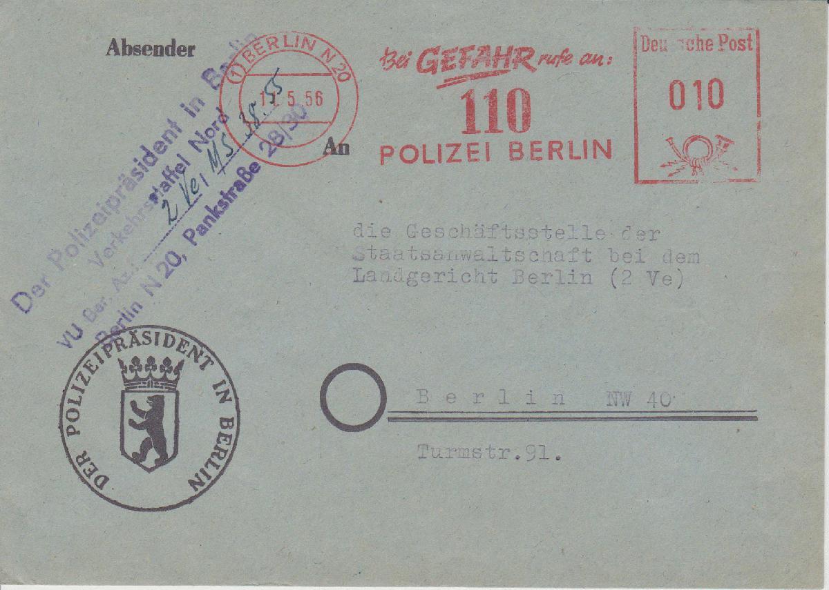 Motiv polizei - Stempel berlin mitte ...