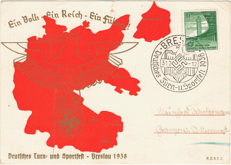 Schlesien Karte Deutsche Ortsnamen.Philaseiten De Schlesien Regierungsbezirke Breslau Kattowitz