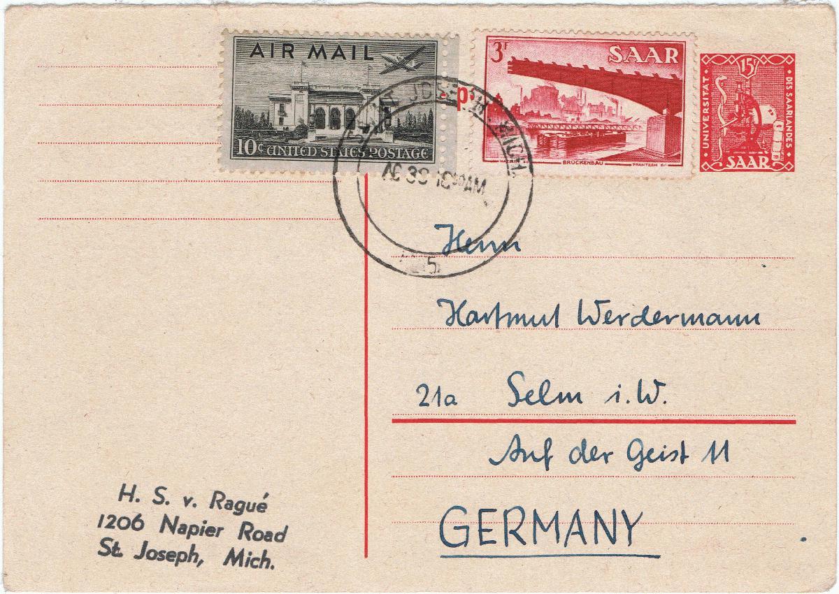 Briefe Nach Usa Richtig Adressieren : Philaseiten kuriose briefe postkarten und frankaturen
