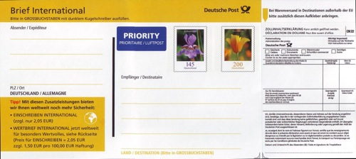 Philaseitende Bund Dauerserie Blumen