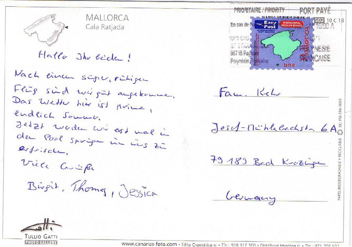 Berühmt Postkarte Beispielvorlage Ideen - Beispiel Wiederaufnahme ...