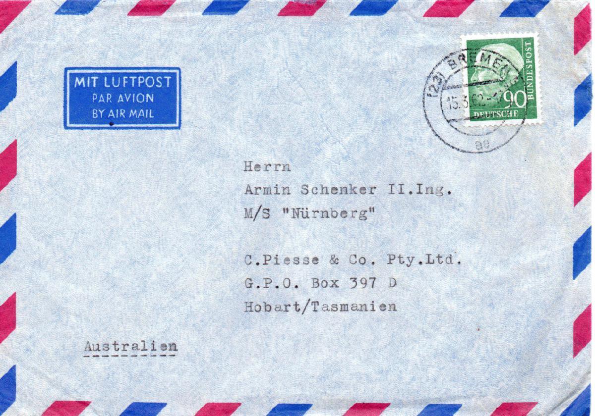 Porto Nach Australien Brief
