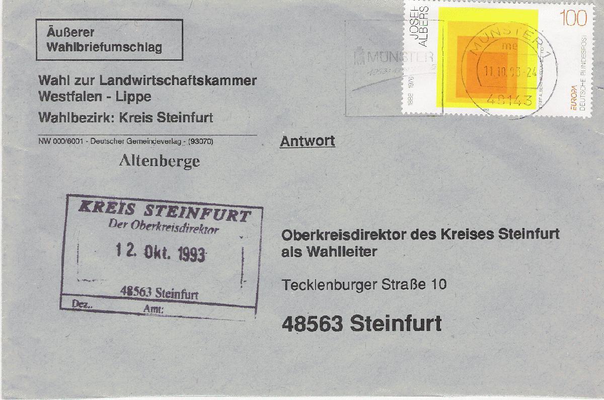 Briefe Mit Antwort Frankieren : Philaseiten wahlbriefumschläge