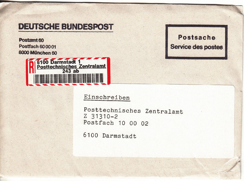 Brief Mit Einschreiben : Philaseiten einschreiben belege und informationen