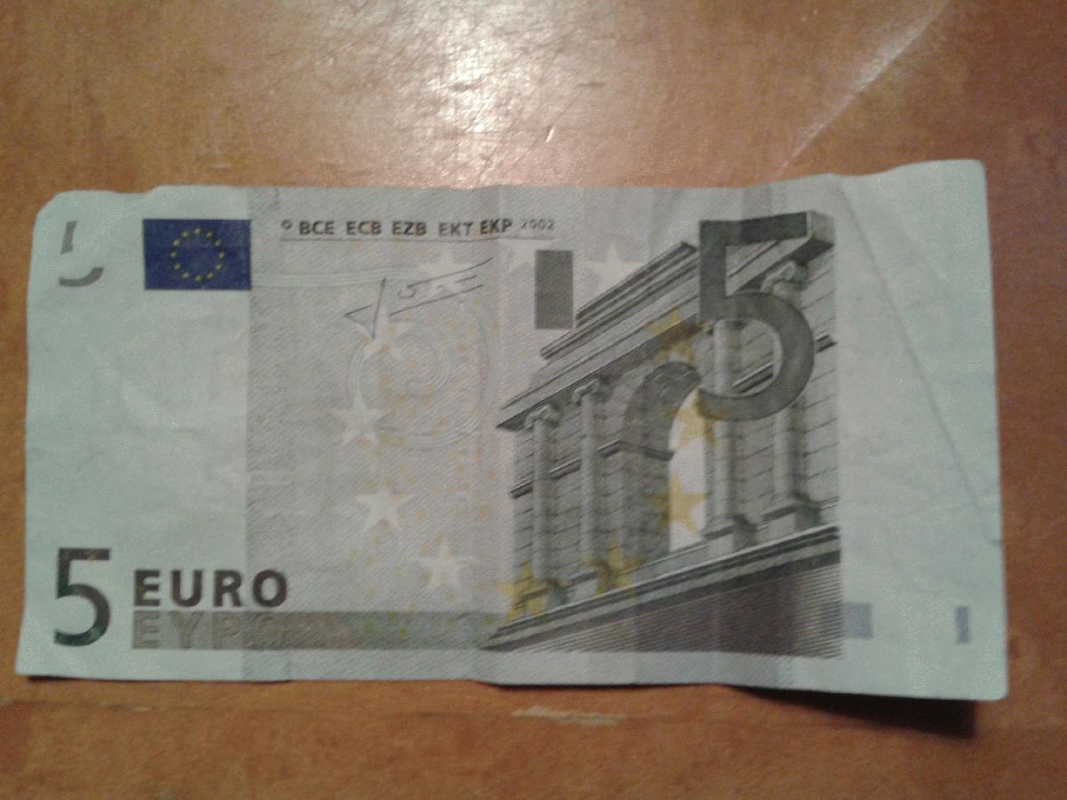 Philaseitende Banknoten 5 Euro Schein Ohne Silberstreifen