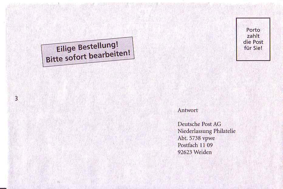 Briefe Mit Deutsche Post Antwort : Philaseiten entgeltvermerke sammelwürdig