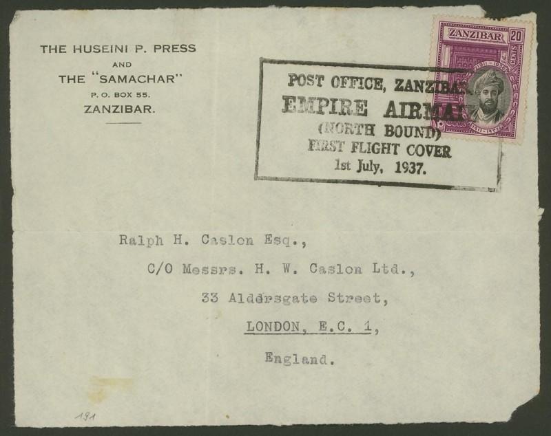 Brief Nach London Adresse : Philaseiten sansibar marken und belege