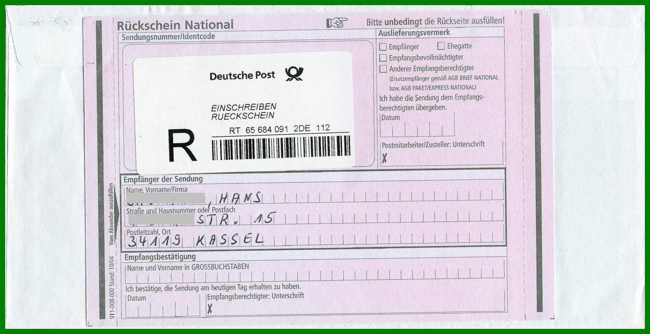 PhilaSeiten.de: Gestempelte, handschriftliche oder