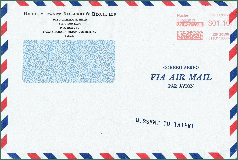 Briefe Usa : Dort wurde die fehlleitung erkannt und ein entsprechender