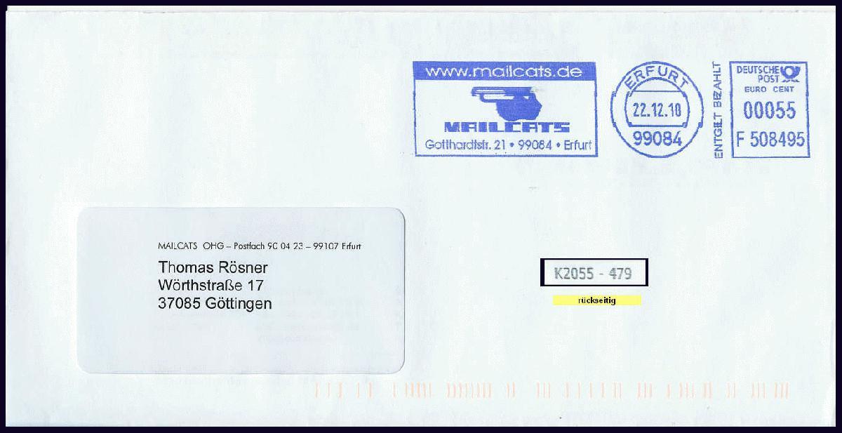 Brief Mit Antwort Frankieren Philaseiten Nachnahme Postkarten Der