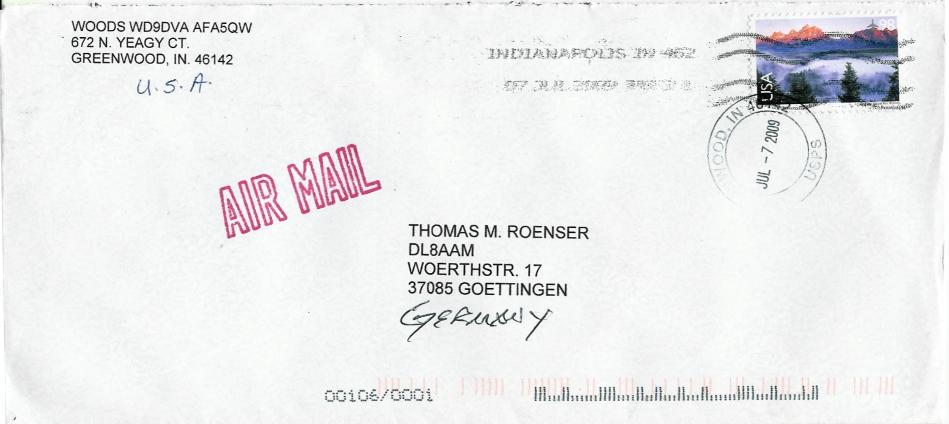 Brief Von Luxemburg Nach Deutschland : Philaseiten usa matrixcodierungen im auslandsversand